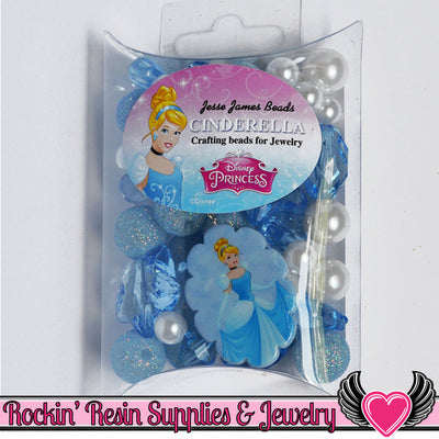DISNEY CINDERELLA Pendant and Acrylic Beads Necklace Kit - Rockin Resin  - 1
