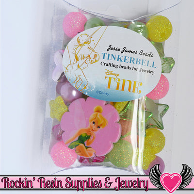 DISNEY TINK Tinkerbell Pendant and Acrylic Beads Necklace Kit - Rockin Resin  - 1