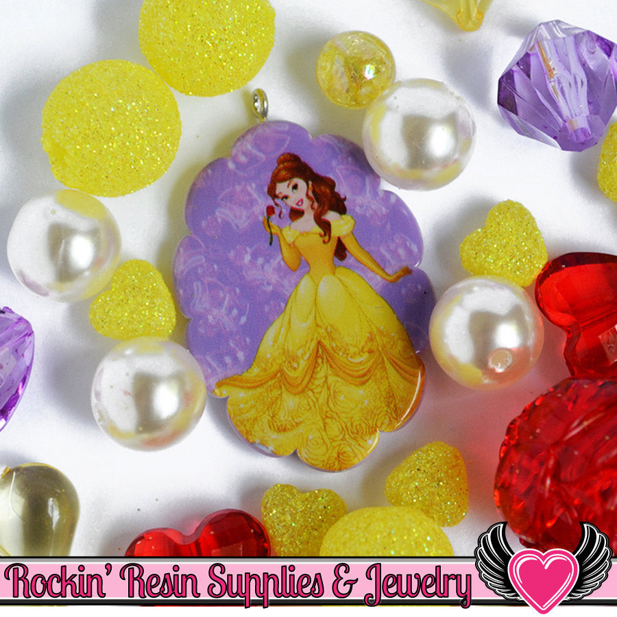 DISNEY Beauty and the Beast Belle Pendant and Acrylic Beads Necklace Kit - Rockin Resin  - 1