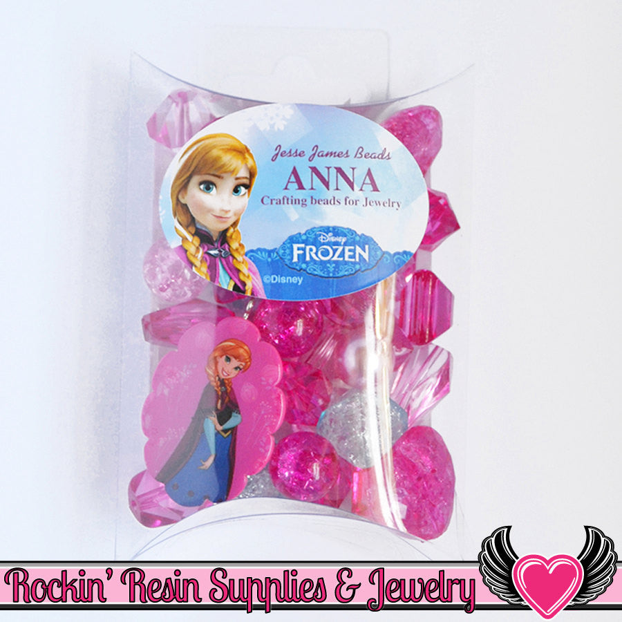 DISNEY FROZEN ANNA Pendant and Acrylic Beads Necklace Kit