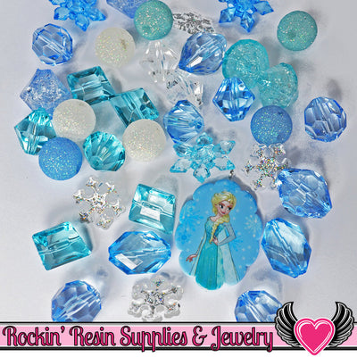 DISNEY FROZEN ELSA Pendant and Acrylic Beads Necklace Kit - Rockin Resin
