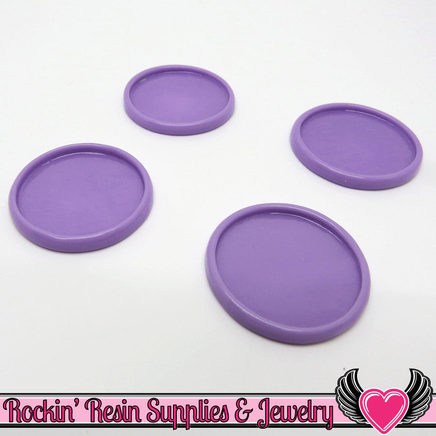 Lavender 1 inch Round Cameo Settings 25mm Resin Bezel 10 pieces - Rockin Resin  - 1