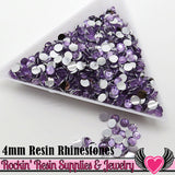 4mm 1000 pc Light Purple Flatback Resin Rhinestones (RR11) - Rockin Resin