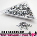 4mm 1000 pc Clear Mirror Flatback Resin Rhinestones (RR16) - Rockin Resin  - 2