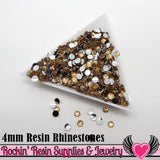 4mm 1000 pc Flesh Peach Flatback Resin Rhinestones (RR9) - Rockin Resin  - 1