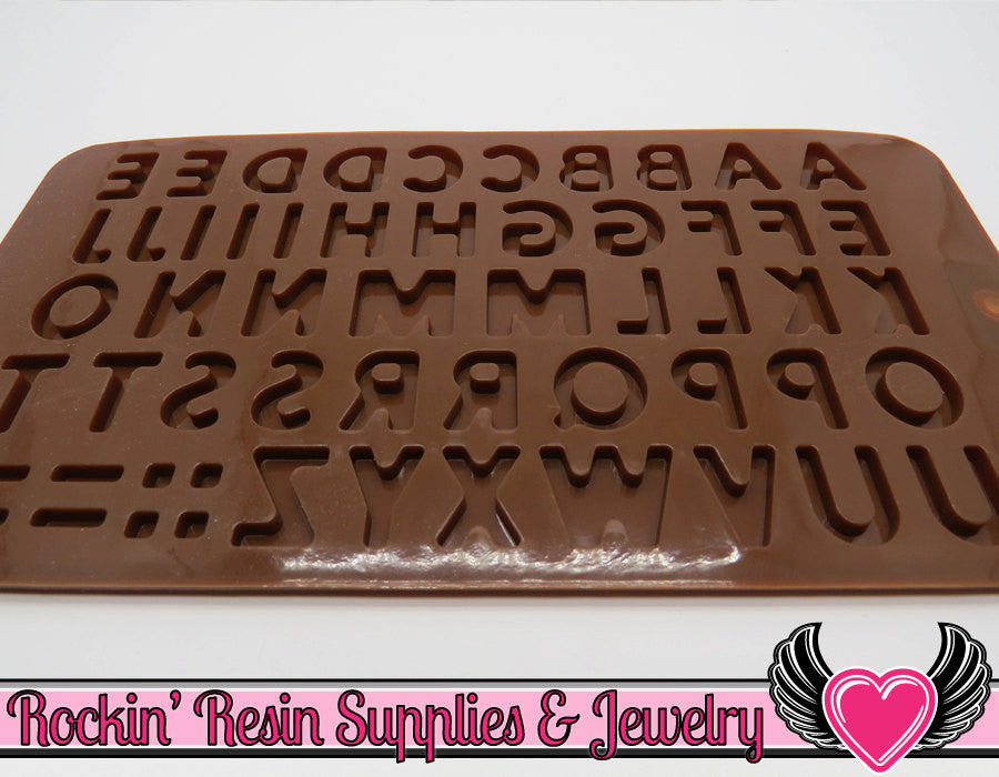 ALPHABET Food Grade Shiny Flexible Silicone Mold - Rockin Resin  - 1