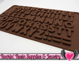 ALPHABET Food Grade Shiny Flexible Silicone Mold - Rockin Resin  - 2