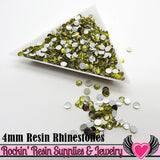 4mm 1000 pc Yellow Flatback Resin Rhinestones (RR7) - Rockin Resin  - 2