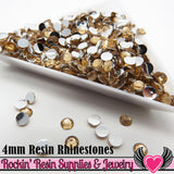 4mm 1000 pc Flesh Peach Flatback Resin Rhinestones (RR9) - Rockin Resin  - 2