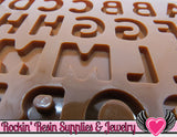 ALPHABET Food Grade Shiny Flexible Silicone Mold - Rockin Resin  - 3