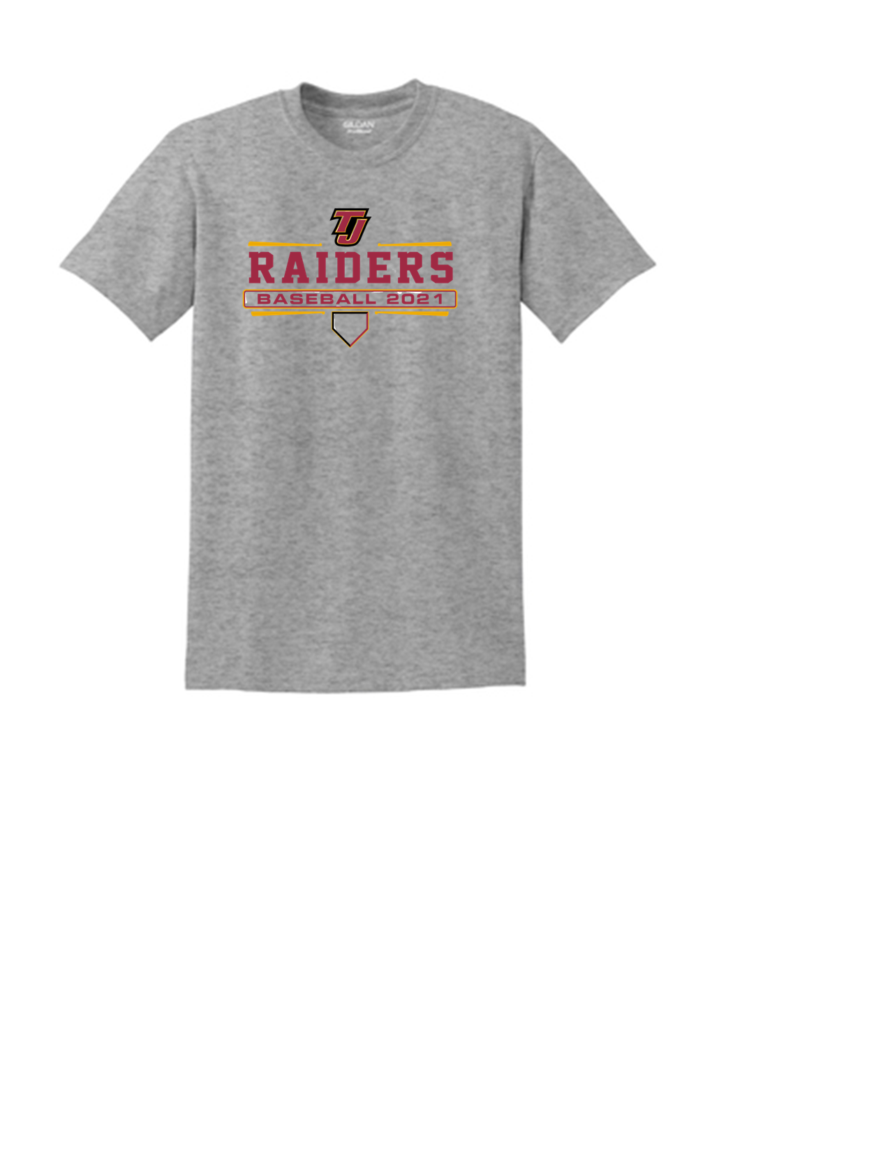 Short Sleeve Tee Raiders Baseball Bats