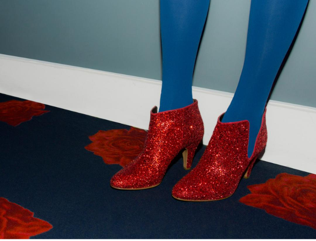 Low-boot talon haut glitter rouge Fifty Five Patricia Blanchet