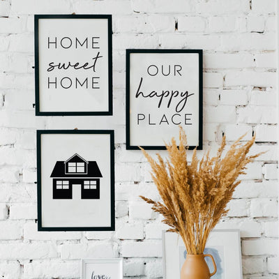 Happy Home Wall Art Collection