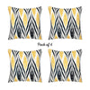 "Geometric Yellow Lit Square 18"" Throw Pillow Cover (Set of 4)"