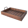 Rustic Tray - Stained Wood Large Tray