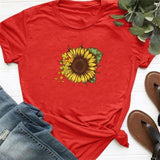 T-shirt Rouge Tournesol