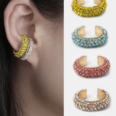 Cuff Brinco Earring Set Rainbow