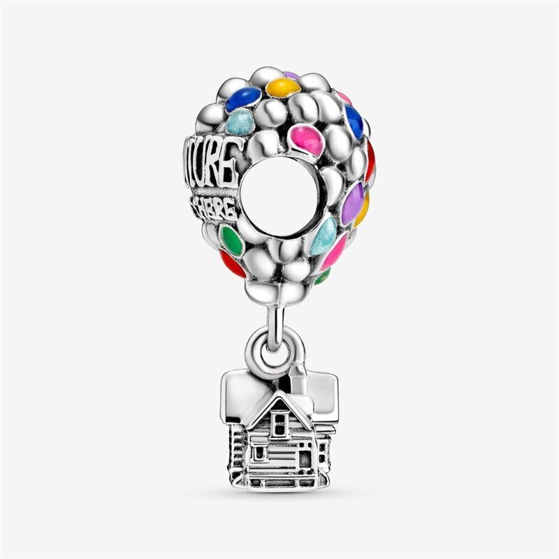 Padora charm Prata 925 Up House & Balloons Charm Beads
