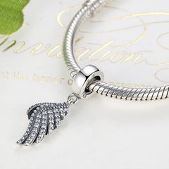 Berloque charm Majestic Feather Fly - Prata 925