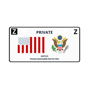 PRIVATE Flag License Plate