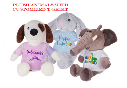 Plush Animals With Customized T-Shirt