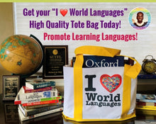 Load image into Gallery viewer, I Love World Languages Tote Bag