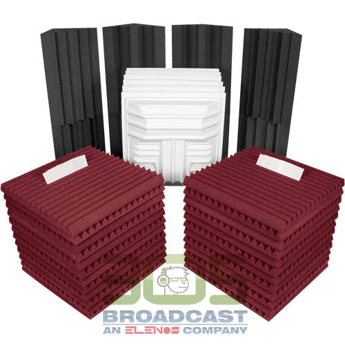 Auralex Deluxe Plus Roominator Kit (Burgundy) - 305broadcast