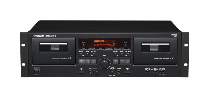Tascam 202MKVII - Double Cassette Deck with USB Port - 305broadcast