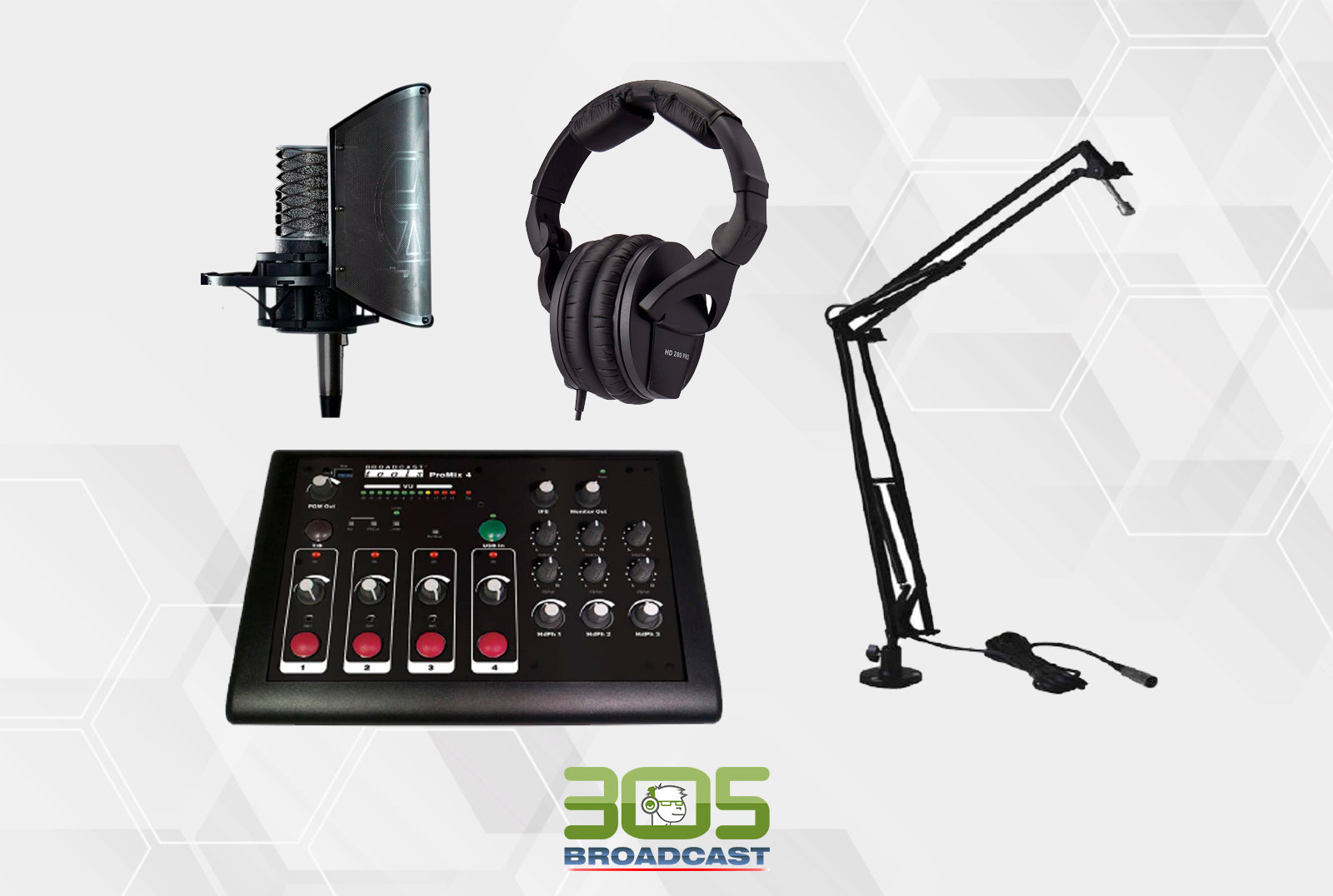 305P - POPCAST KIT BASIC PRO - 305broadcast