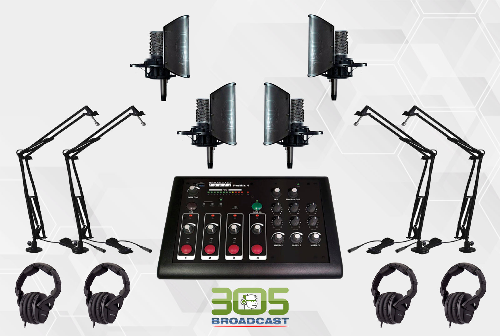 305P - POPCAST KIT FULL PRO - 305broadcast