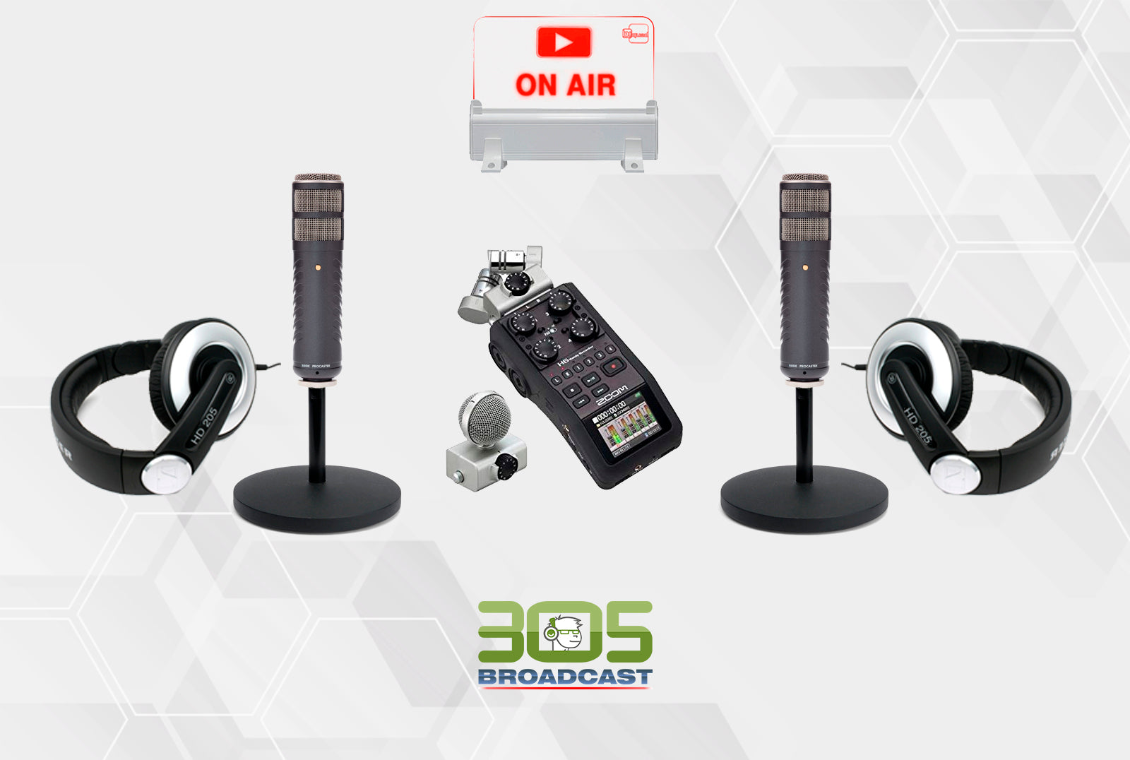 305 Podcaster Kit Silver - 305broadcast