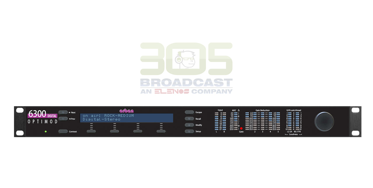 Orban Optimod-DAB 6300 Audio Processor - 305broadcast