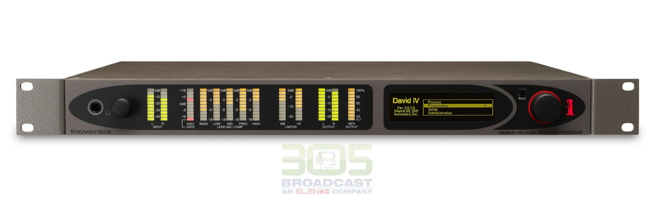 Image of Inovonics 719 DAVID IV FM/HD Radio Broadcast Processor