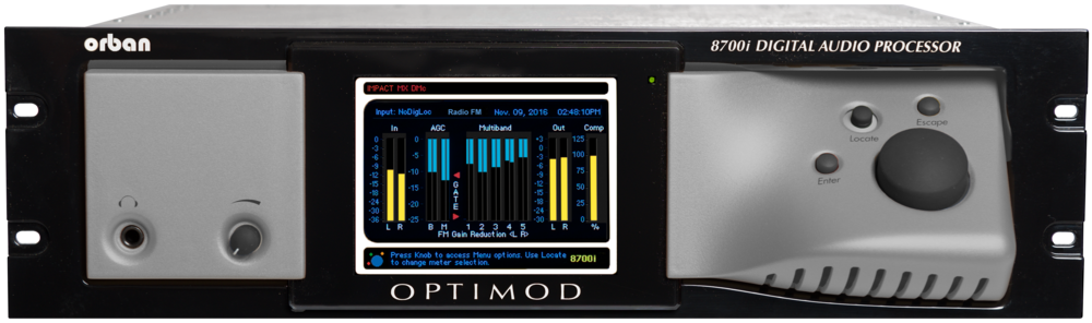 Orban Optimod 8700i FM+HD Digital Audio Processor + RDS