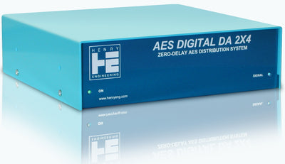 Henry Engineering AES DIGITAL DA 2X4™ - ZERO-DELAY AES DISTRIBUTION SYSTEM