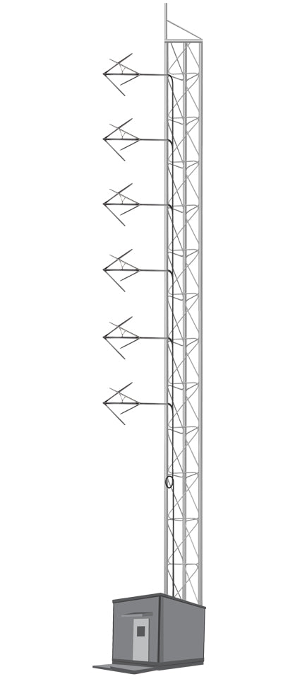 6 BAYS FM ANTENNA SYSTEM FOR 5KW - AKG7 - 305broadcast