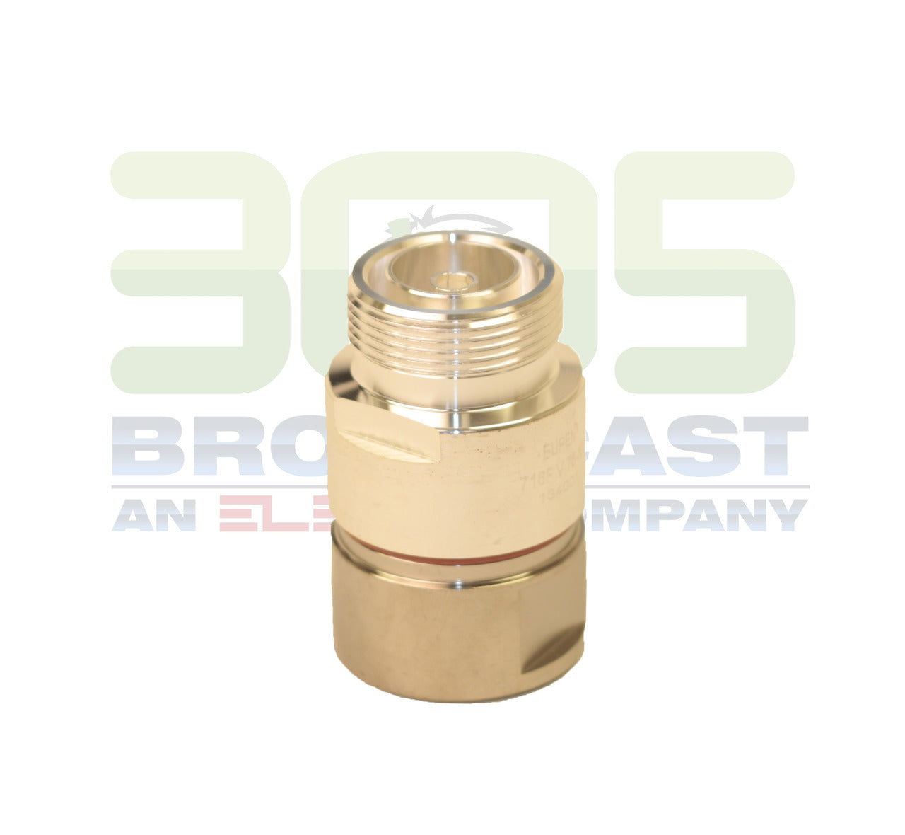 "CONNECTOR DIN 7-16 FEMALE STRAIGHT FOR CABLE 7/8"" FOAM - 305broadcast"