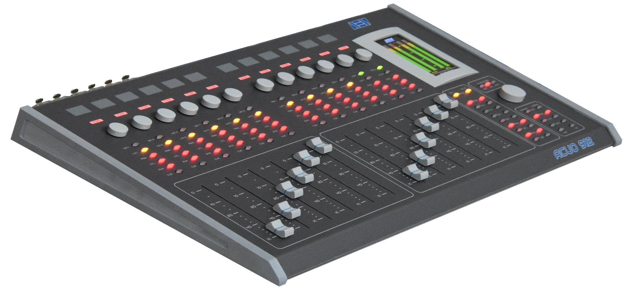 12 Channels Broadcast Consoles 6 Mics + 2 tel Hybrids - 305broadcast