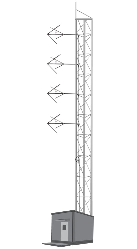4 BAYS FM ANTENNA SYSTEM FOR 5 KW - AKG7 - 305broadcast