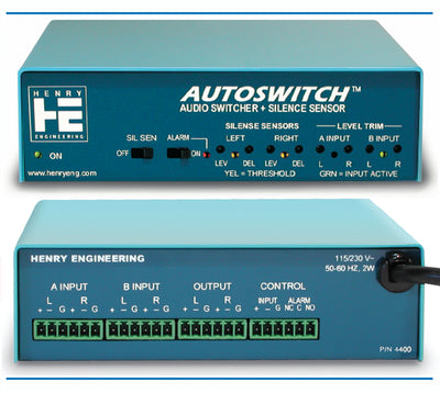 Henry Engineering AUTOSWITCH - AUDIO SWITCHER & SILENCE SENSOR