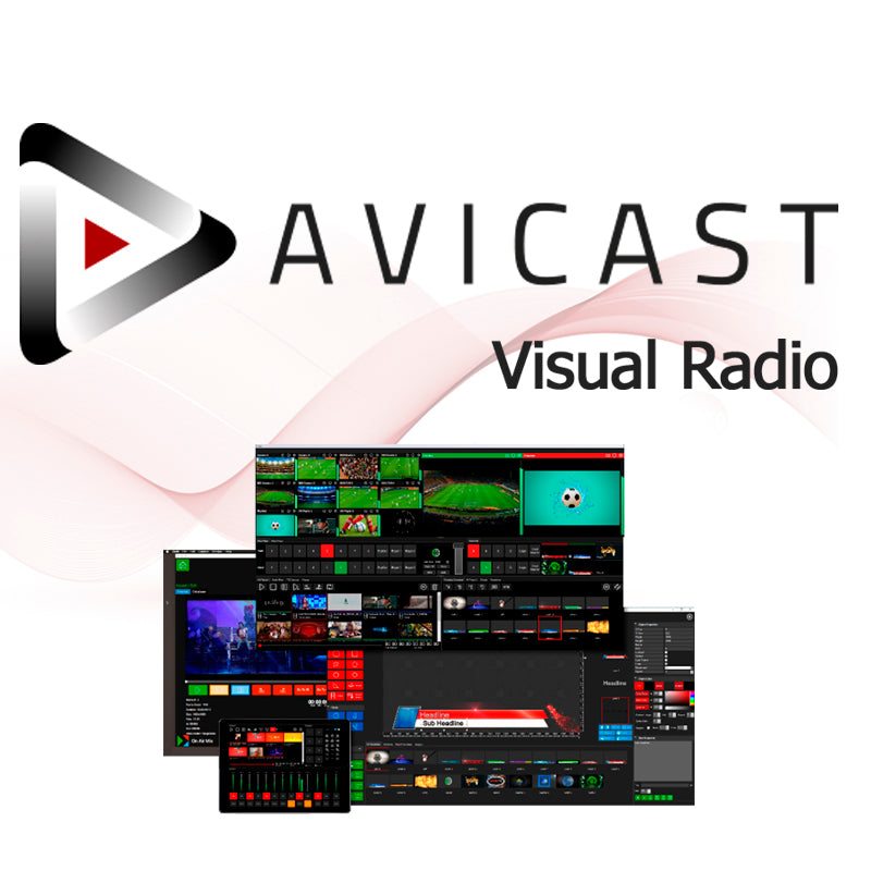 Visual Radio Software - AVICAST - Video Mixer, CG, Playout - 305broadcast