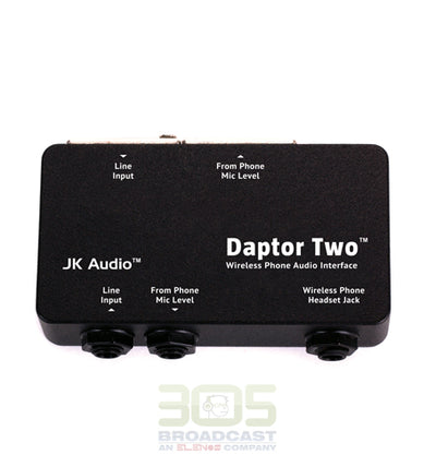 JK AUDIO Daptor Two Wireless Phone Audio Interface - 305broadcast