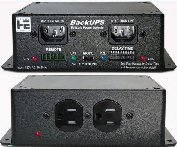 Henry Engineering BACKUPS™ - FAILSAFE UPS POWER SWITCHER - 305broadcast