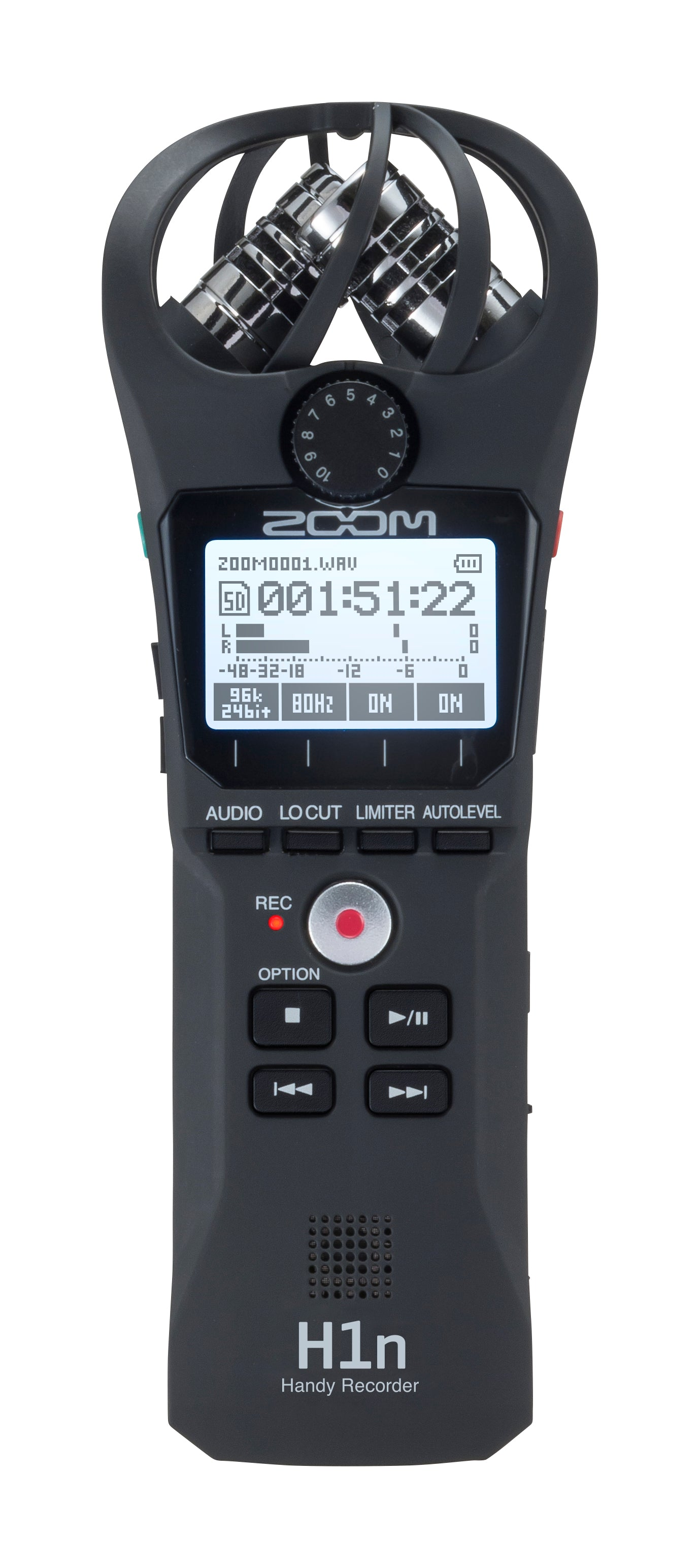 Zoom H1n Portable Recorder, Onboard Stereo Microphones, Camera Mountable, Records to SD Card, Compact, USB Microphone, Overdubbing, Dictation, For Recording Music, Audio for Video, and Interviews - 305broadcast