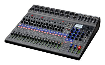 Zoom LiveTrak L-12 Digital Mixer & Multitrack Recorder, for Music, Podcasting, and More, 12-Input/ 14-Channel SD Recorder, 14-in/4-out USB Audio Interface, 5 Powered Headphone Outputs