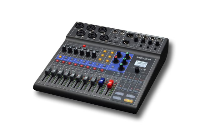 Zoom LiveTrak L-8 - Digital Mixer & Multitrack Recorder/Podcast Mixer - 305broadcast