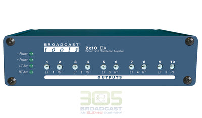 Broadcast Tools 2x10 DA Stereo distribution amplifier - 305broadcast
