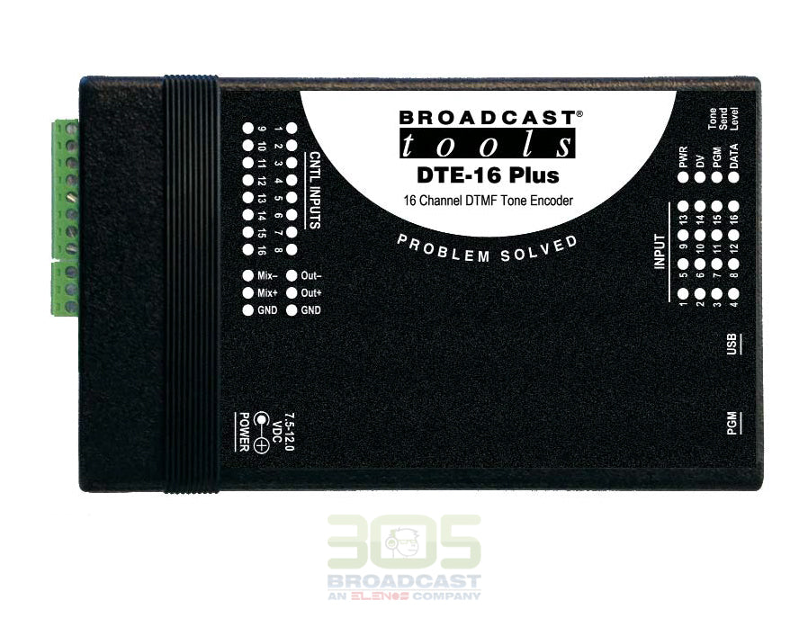 Broadcast Tools DTE-16 Plus 16 Channel DTMF Tone Encoder - 305broadcast