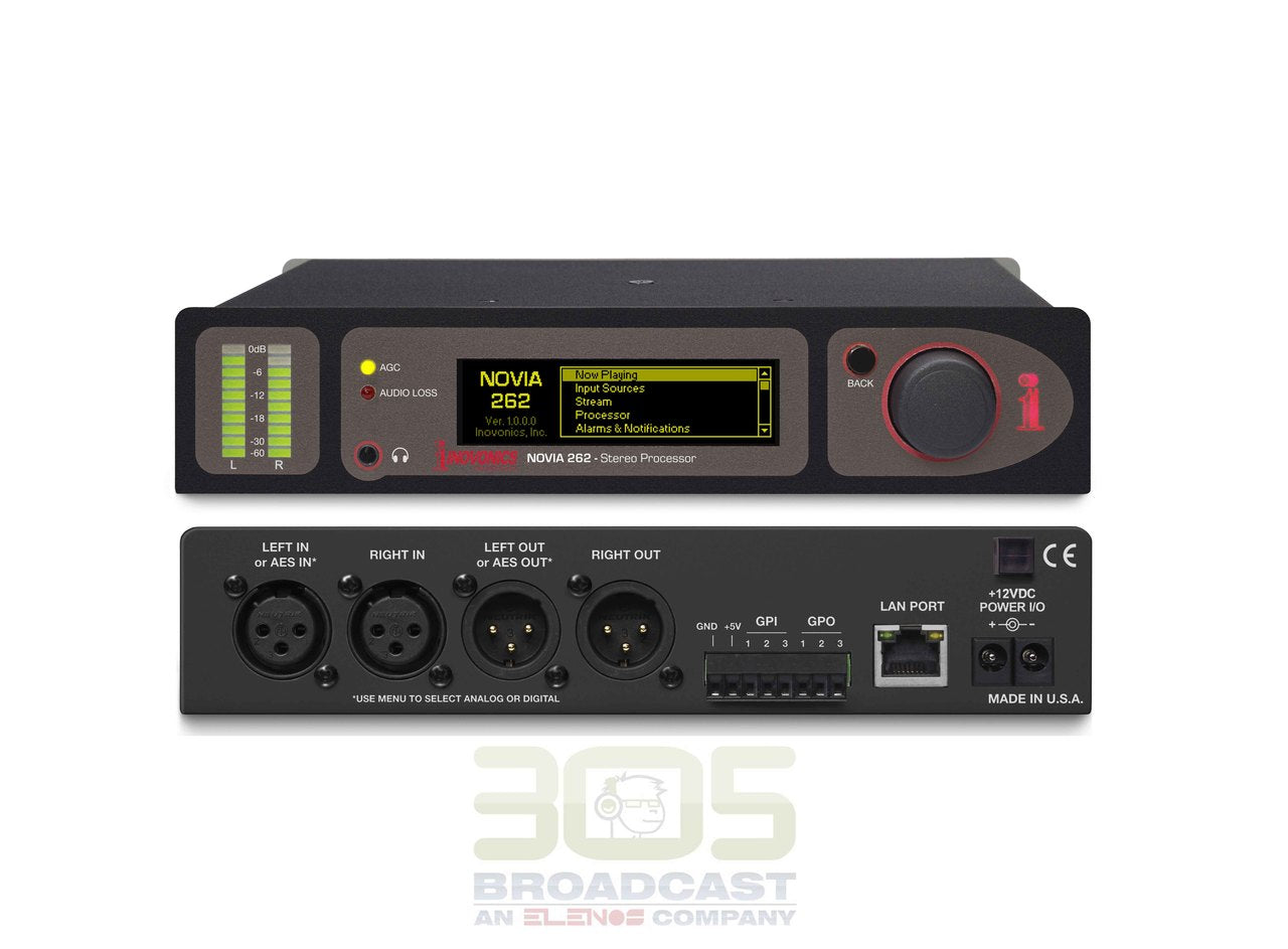 Image of Inovonics 262 NOVIA - Dual-Mode Stereo Audio Processor