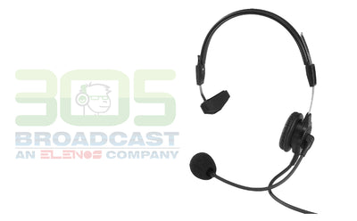 TELEX PH-88R Single-Sided Lightweight Headset, 6' (18M) cord, (A4M Connector) - 305broadcast